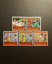 TIMBRE COMORES JEUX OLYMPIQUES DE MOSCOU N°308/312 NEUF ** LUXE MNH 1979