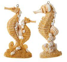 Kurt Adler Sand Sculpted Seahorses  Holiday Ornaments Set of 2