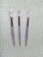 3x Sl Miss Glam Round End L34 Beauty Brushes for Eyes & Sliver Bag Best Deal