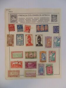 PA 424 - Page Of Mixed French Colonies Stamps