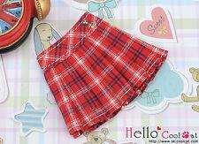 ☆╮Cool Cat╭☆35.【PE-04】Blythe/Pullip Accordion Mini Short Skirt # Stripe Red