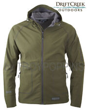 1-DRIFT CREEK #1630 FOREST NIGHT TECH RAIN GEAR HOODED MENS JACKET GOLF WEAR WET
