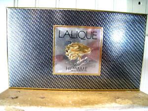 Set of 2 Mini LALIQUE pour Homme Eau de Parfum & Women's Lalique Parfum NIB