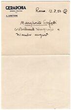 Autografo scrittrice Margherita Sarfatti (Venezia, 1880 - Cavallasca, 1961)
