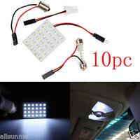 10x Universal 12V Panel 24-36SMD Car Interior LED White Map Dome Light Lamp Lot