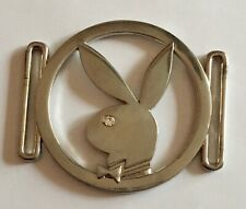 Vintage Playboy Rabbit with Crystal Eye Belt Link Silver Toned Statement