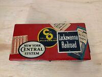 Vintage Railroad Labels Art Box Collage | Train Spikes | Unique Mixed Sculpture