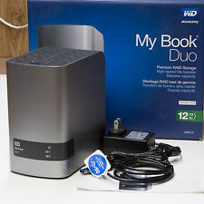 WD My Book Duo Desktop RAID External Hard Drive Enclosure USB 3.0 upto 12TB