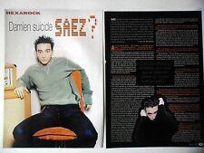COUPURE DE PRESSE-CLIPPING : DAMIEN SAEZ [3pages] 2002 Interview,God blesse/...