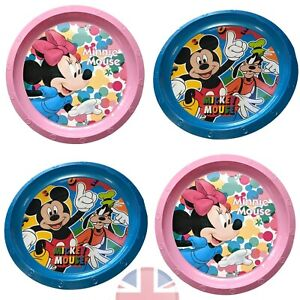 Minnie Mickey Mouse Lunch Dinner Pink Plastic Plate Kids Children Girls Toddler
