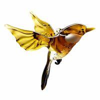 Glass Bird Animal Figurine, Handmade Hand Blown Art Glass Bird Animal Figure