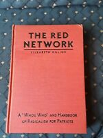 Vintage Rare Hardcover Book The Red Network by Elizabeth Dilling 1934