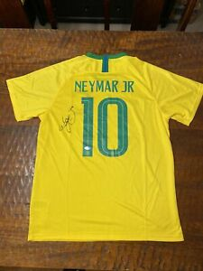 Neymar Jr Signed Brazil Soccer Jersey Beckett BAS Coa Autographed Futebol