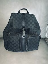 Gucci Jackie Backpack - Black Signature Canvas