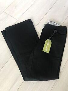 M&S Indigo Black Kickflare Denim Jeans Flare Size 12 31L RRP £29.50