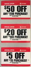 Northern Tool In Store Coupon $50 off $250, $20 off $100 &$5 Off-Exp 10/16/2018