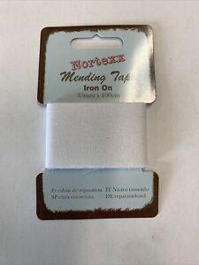 Mending Tape Iron On White 35mm X 100cm
