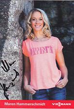 Biathlon - Maren Hammerschmidt signed photocard