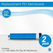 2 Pack 100 GPD RO Membrane Reverse Osmosis Universal Size 2012 GPD NSF Certified