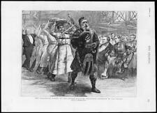 1891 antica stampa-London Scottish VOLONTARI portando Haggis Halloween (71)
