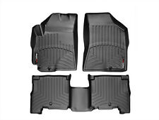 WeatherTech Floor Mats FloorLiner for Hyundai Santa Fe - 2010-2012 - Black
