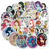 100 Cartoon Princess Girl Stickers for Laptop Luggage Car Skateboard Vinyl Bomb