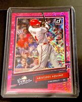 2020 Donruss The Rookies RC Pink Fireworks SP Parallel ARISTIDES AQUINO -Reds RC