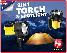 Rechargeable Torch and Spotlight Weatherproof Boating Fishing Emergency RT500