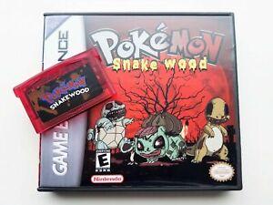 Pokemon Snakewood Game / Case Nintendo Game Boy (GBA) -(English Fan Hack)