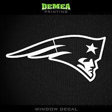 "New England Patriots NFL -  White Vinyl Sticker Decal 5"""