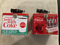 Things Go Better With Coke Metal Tin Set Of 2 With Handles Coca Cola 6 X 4 X 5