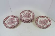 "Set of 15 Churchill China Bread & Butter Plates 6 3/4"" Pink Artwork Cottage"