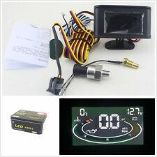 3in1 LCD 12/24V Automobiles Oil Pressure Gauge Voltmeter Water Temperature Meter