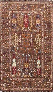 Geometric Tribal Ziegler Oriental Area Rug Wool Hand-knotted Foyer Carpet 4x6 ft