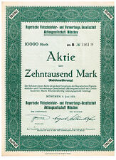 Bayerische Fleischeinfuhr- und Verwertúngs-Ges., München 1923, 10.000 Mark, unge