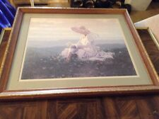 Wood framed matted picture