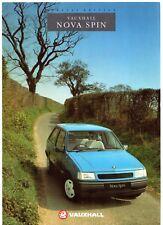 Vauxhall Nova Spin 1.0 3-dr Limited Edition 1991 UK Market Sales Brochure