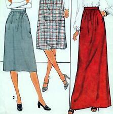 "Vintage 70s SKIRT Sewing Pattern UNCUT Waist 26.5"" Size 10 MAXI Evening RETRO"