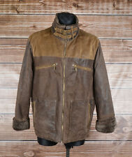 Camel Active Leather, Fur Men Jacket Coat Size 54, Genuine