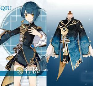 XingQiu Sugar Genshin Impact Anime Game Cosplay Cosplay Costume Jacket Shirt Wig