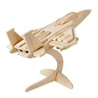 ds Puzzle 3D Legno Aereo F-15 Modellino Modellismo Collezione Gioco Bambini dfh