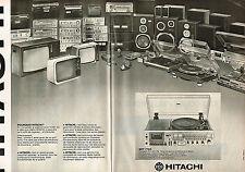 PUBLICITE ADVERTISING 104  1978  HITACHI   téléviseur hi-fi   SDT 7785 ( 2p)