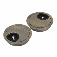 2 pieces Bronze 60mm Computer Desk Grommet Table Scuff Tidy Wire Hole Cover