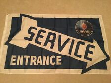 Saab service entrance 93 Aero Turbo 9000 workshop flag banner