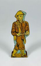 Infantry Private #5 Vintage Marx Toy Lithograph Tin Foot Soldier Litho Figure