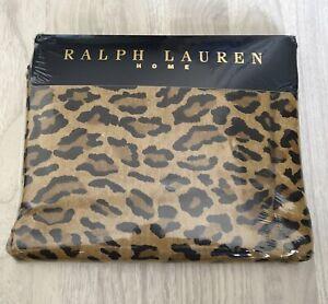 NWT Ralph Lauren Home Aragon Neutral Leopard Print FULL Flat Sheet