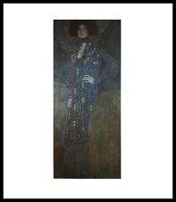 Gustav Klimt Emilie Flöge Poster Bild Kunstdruck im Alu Rahmen in schwarz