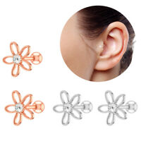 1Pair 16g Flower Cartilage Earrings Tragus Helix Conch Ear Stud Piercing Jewelry