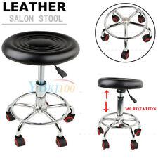 Adjustable Swivel Salon Stool Hydraulic PU Barber Rolling Massage Tattoo Chair
