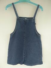 NEXT GIRLS CHILDS DARK BLUE DENIM PINAFORE DRESS AGE 8 YEARS